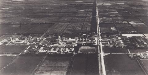 Vista aerea di Arborea primi anni 30 - Archivio di Stato di Oristano prot. 732 del 21-07-2016